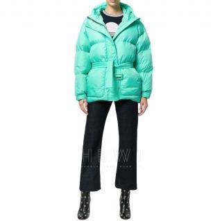 IENKI IENKI Michlin Turquoise Belted Puffer Jacket