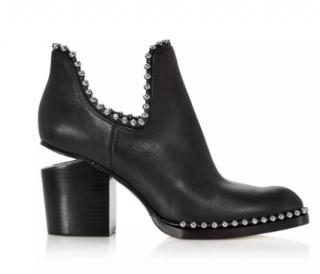 Alexander Wang Gabi Cut-Out Studded Boots