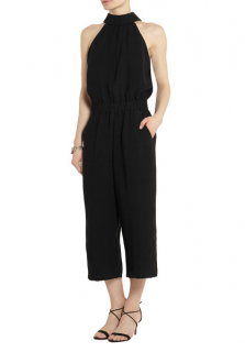 McQ Alexander McQueen cropped crepe jumpsuit