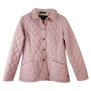 Barbour Pink Diamond Quilted Jacket