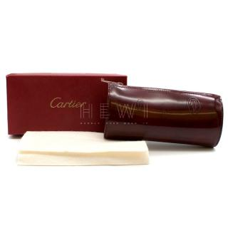 Cartier Burgundy Happy Birthday Collection Zip Pouch