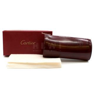 Cartier Burgundy Happy Birthday Collection Zip Pouch
