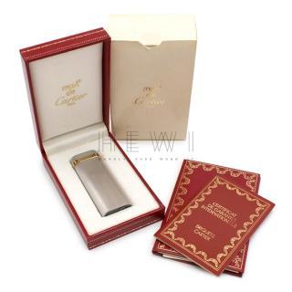 Cartier Must De Cartier Silver Plated Briquet Lighter