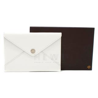 Mulberry White Receipt Envelope Wallet
