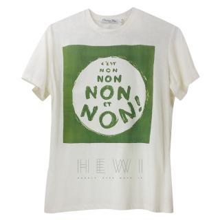 Dior White C'est Non Printed T-Shirt