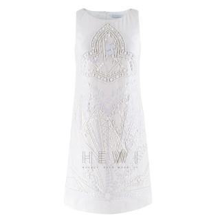 Emilio Pucci White Embellished Sleeveless Dress