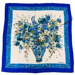Dolce & Gabbana Vase Print Silk Scarf