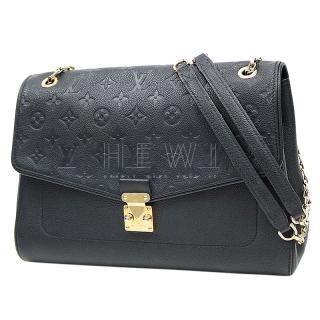 Louis Vuitton Black Monogram Empreinte Leather St Germain MM
