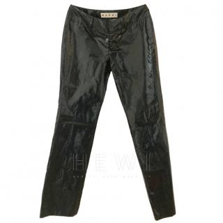 Marni Black PVC Trousers