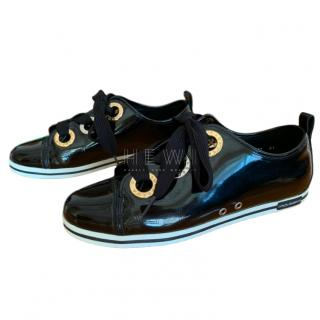 Dolce & Gabbana Black Patent Lace-Up Brogues