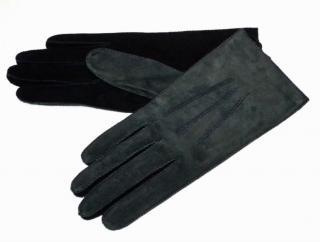 Bottega Veneta matte suede olive green gloves