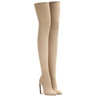 Yeezy Season 3 Desert Light Sock Knit Tall Boots