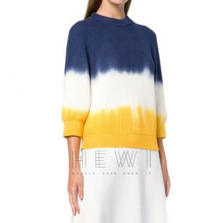 Sonia Rykiel Ribbed Tie-Dye Knit Sweater - New Season