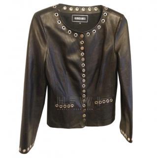 Georges Rech Eyelet Trim  Leather jacket
