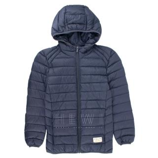 Pullin Boy's 10-12 years Navy Hooded Blue Down Coat