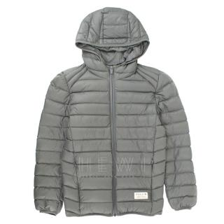 Pullin Boy's 10-12 Years Grey Down Hooded Coat