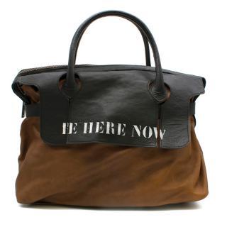 Mihara Yasuhiro Brown Leather Travel Bag