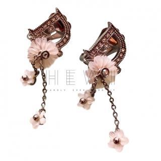 Dior Flower Drop Clip-On Earrings