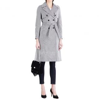 Claudie Pierlot Gemma Dogtooth Cotton Trench Coat