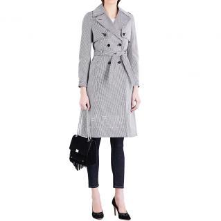 Claudie Pierlot Gemma Dogtooth Cotton Trench Coat