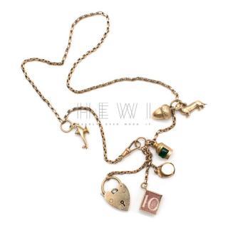 Annina Vogel Bespoke Gold Charm Signatures Necklace