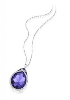 Swarovski Purple Sage Crystal Pendant Necklace