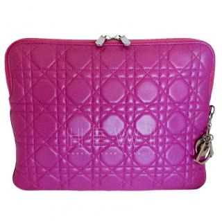 Dior Fuchsia Pink Cannage Leather iPad Case/Pochette/Clutch/Holder/Cover
