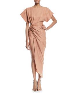 Jacquemus La Robe Salvador High-Low Linen Dress