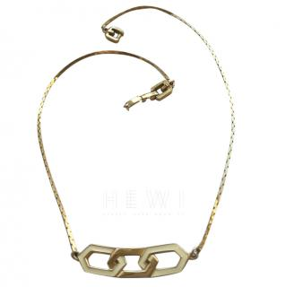 Givenchy Vintage Gold Tone & Ivory Necklace