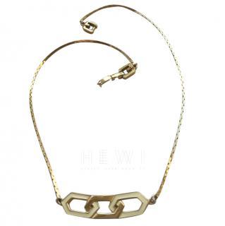 Givenchy GP alloy & Enamel Necklace