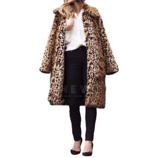 Erdem x H&M Faux Fur Leopard Print Coat