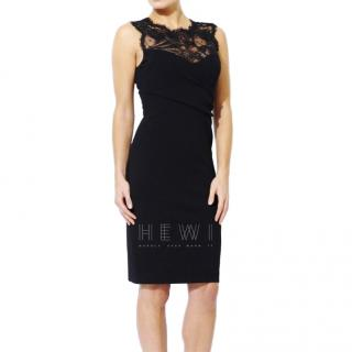 Emilio Pucci Black Fitted Lace Sleeveless Dress