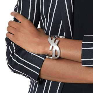 Saint Laurent Silver Monogram Cuff