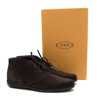 Tod's Desert Boots In Suede