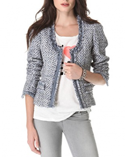 Maison Scotch Bedouin Blue tweed jacket