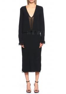 Tom Ford Black Deep V Neck Sheath Dress