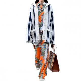 Tory Burch Striped Knit Cardigan - New Season