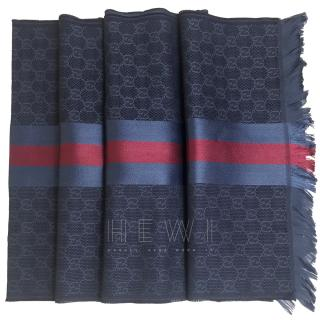 Gucci Nacy Jacquard Web Stripe Scarf