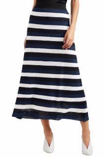 Sonia Rykiel black and white striped maxi skirt