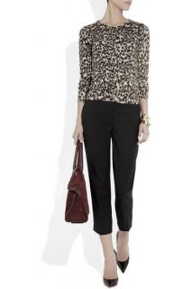 Crumpet silky leopard print cashmere jumper
