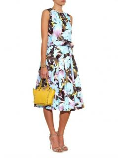 Erdem Te Pari-print Cotton Poplin Sleeveless Dress