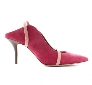 Malone Souliers Hot Pink Suede Maureen 70cmm Mules