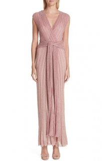 Missoni Pink Metallic Knit Gown