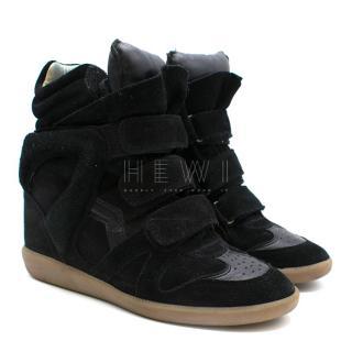 Isabel Marant Beckett Suede Wedge Sneakers