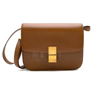 Celine Camel Medium Classic Bag in Box Calf