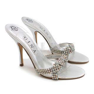Gina Silver Swarovski Sandals