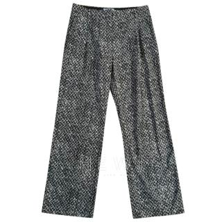 Prada Wool Blend Knit Trousers
