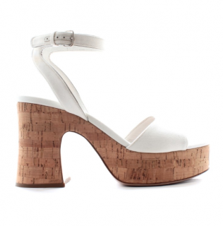 Miu Miu White Patent Sandals