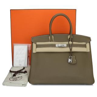 Hermes Etoupe Togo Leather 35cms Birkin