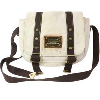 Louis Vuitton White Canvas Buzas Bag